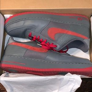 Men's Air Force 1 low Premium size 12 gray/red